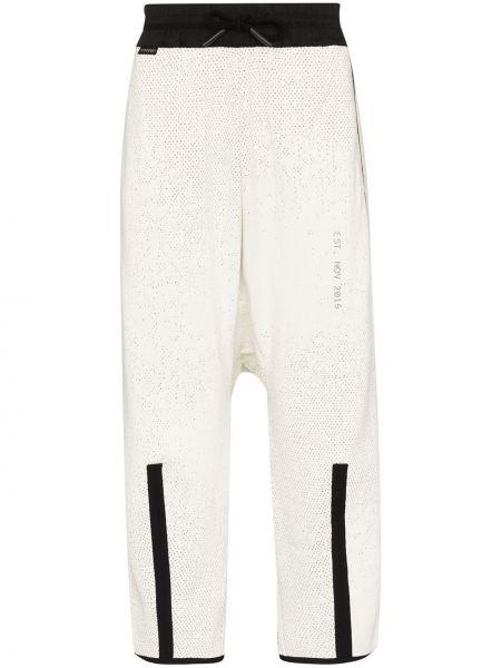 Прямые брюки пэчворк с карманами новогодние бязевые Byborre