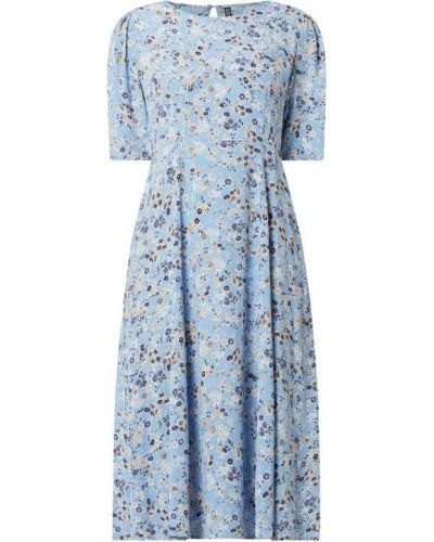 Niebieska sukienka rozkloszowana z wiskozy Pieces
