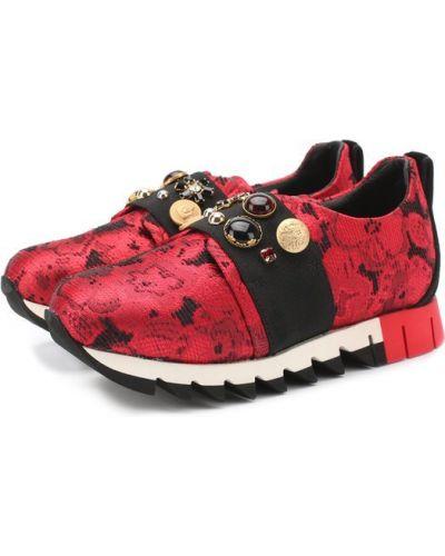 Красные кроссовки Dolce & Gabbana