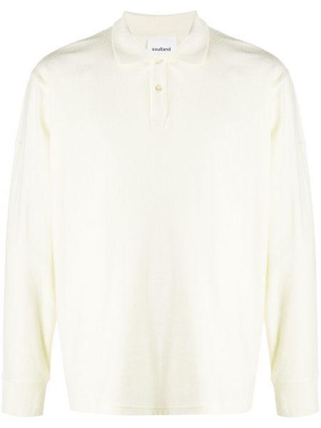 Тонкая желтая рубашка с воротником на пуговицах Soulland
