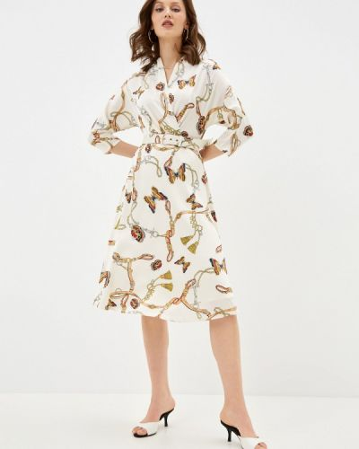 Бежевое платье с запахом Lusio