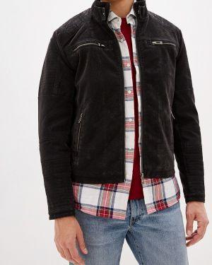 Кожаная куртка черная осенняя Top Secret