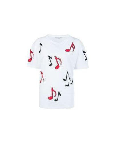 Белая футболка хлопковая Stella Mccartney