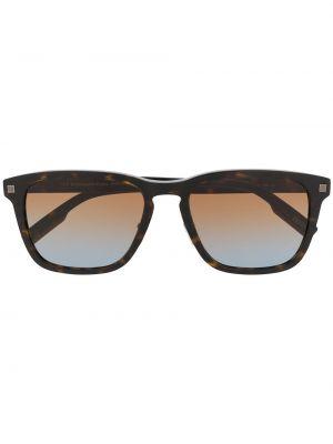 Коричневые прямые солнцезащитные очки металлические Ermenegildo Zegna