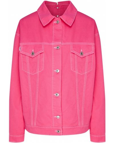 Джинсовая куртка оверсайз розовая Msgm