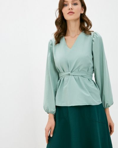 Зеленая с рукавами блузка Trendyol