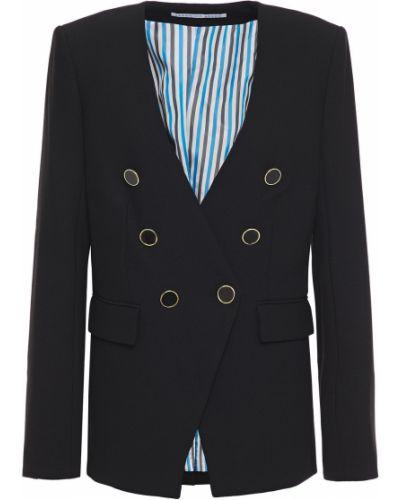 Черный пиджак двубортный с подкладкой Veronica Beard