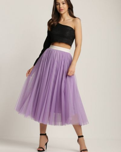 Spódnica materiałowa - fioletowa Renee