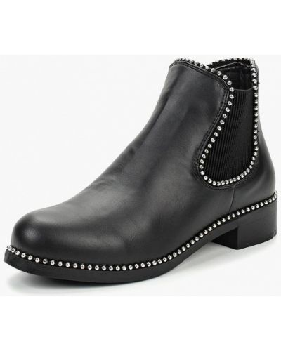 Ботинки челси осенние черные Piazza Italia