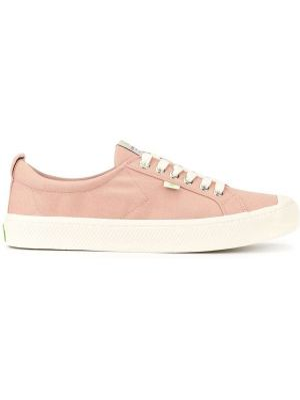 Różowe sneakersy sznurowane koronkowe Cariuma