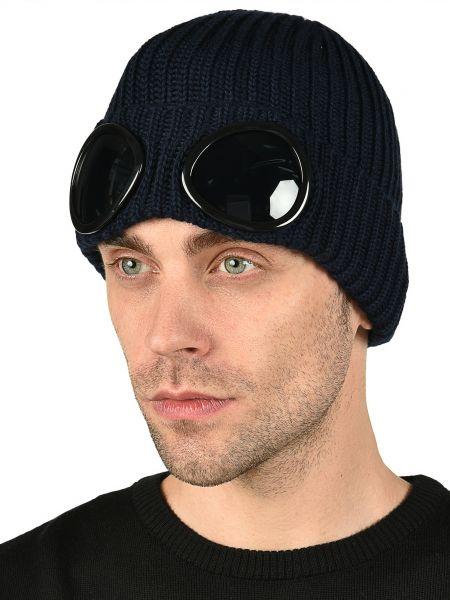 Шерстяная шапка - синяя C.p. Company