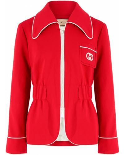Повседневный красный пиджак на молнии Gucci