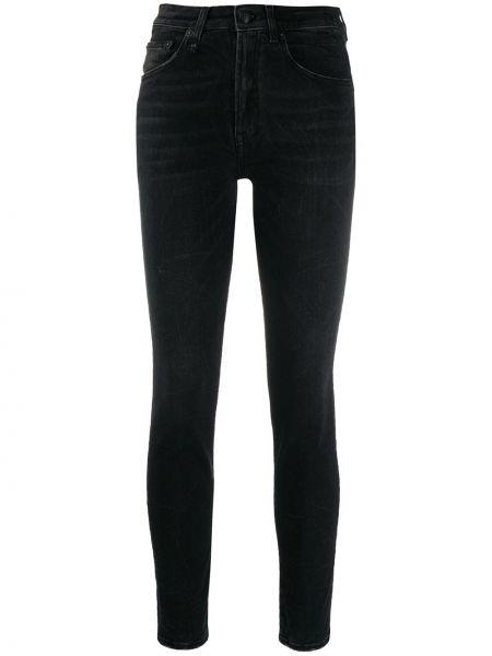 Укороченные джинсы скинни черные R13