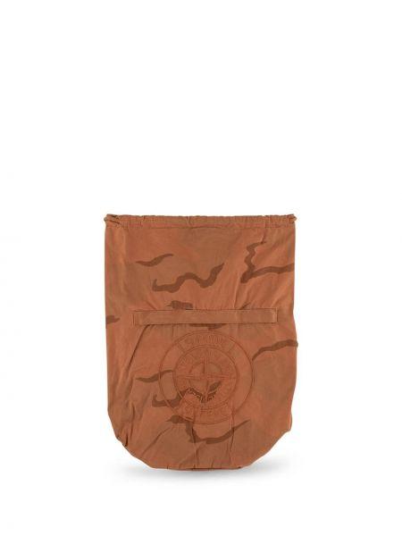 Brązowy plecak z haftem Supreme