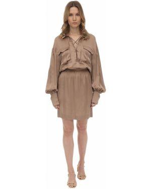 Платье мини макси на пуговицах Lautre Chose