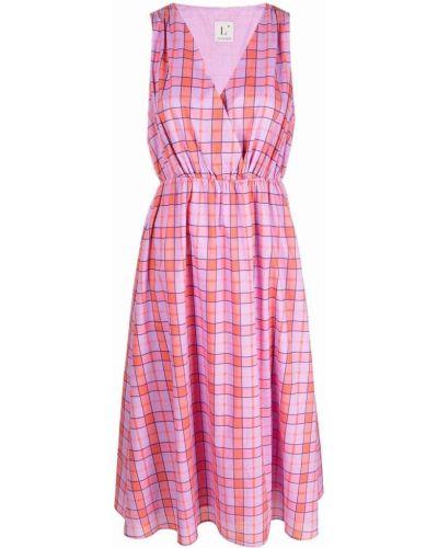 Прямое розовое платье миди без рукавов Lautre Chose