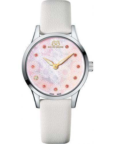 Водонепроницаемые часы на кожаном ремешке розовый 88 Rue Du Rhone