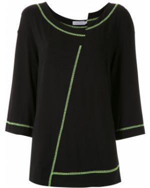 Блузка с декольте - черная Mara Mac