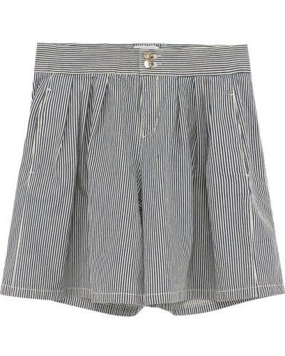 Джинсовые шорты в полоску Chloé