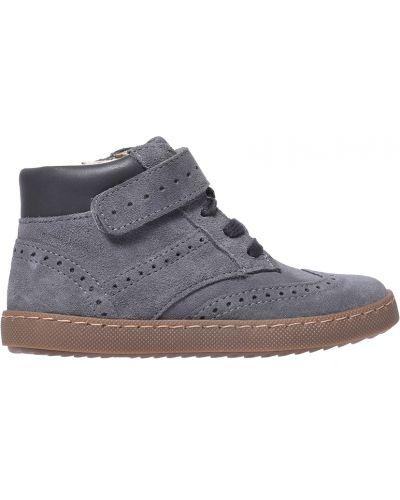 Ботинки замшевые серые Jacadi Paris