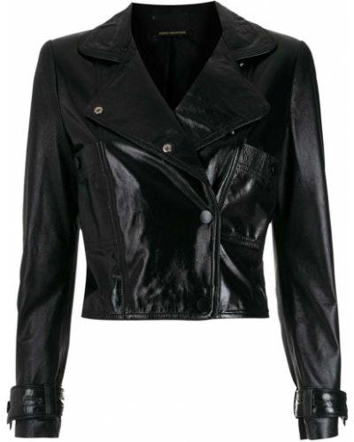 Черная длинная куртка Andrea Bogosian