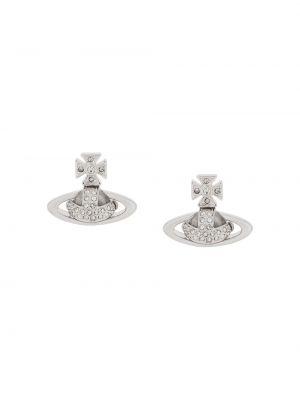 Серебряные серьги с подвесками с бабочкой Vivienne Westwood