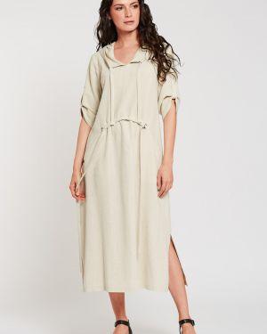 Платье в стиле бохо с капюшоном D`imma Fashion Studio