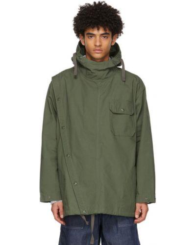 Рубашка с капюшоном с длинными рукавами с воротником-стойка Engineered Garments