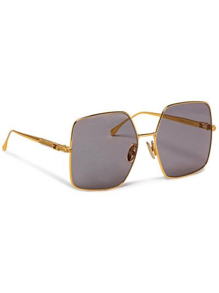 Złote okulary Fendi