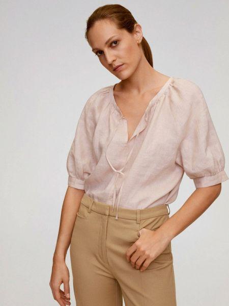 Блузка с коротким рукавом розовая весенний Mango