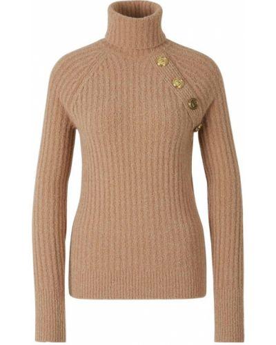 Żółty sweter wełniany Balmain
