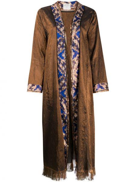 Длинное пальто с бахромой пальто Forte Forte