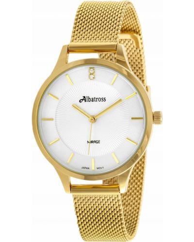 Klasyczny czarny złoty zegarek Albatross