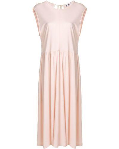 Платье с открытой спиной шифт Jil Sander