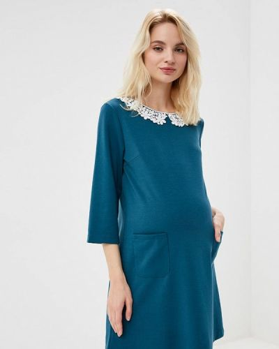 Платье осеннее зеленый Мама Мила