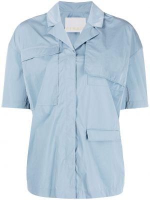 Niebieska koszula krótki rękaw z nylonu Remain