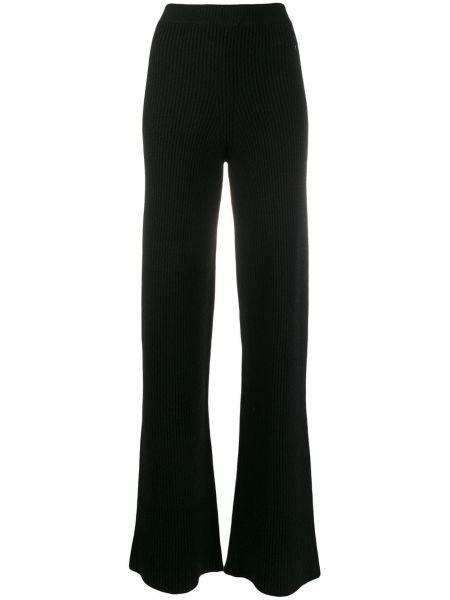 Расклешенные шерстяные черные брюки Cashmere In Love