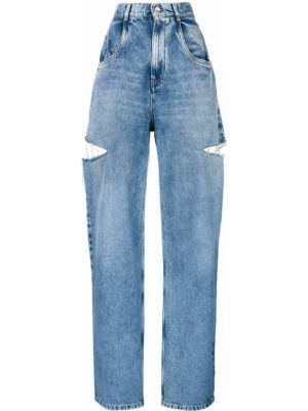 Хлопковые синие джинсы Maison Margiela
