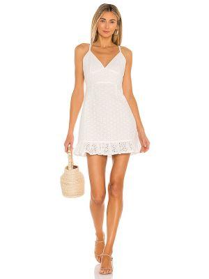 Biała sukienka mini w paski boho Minkpink