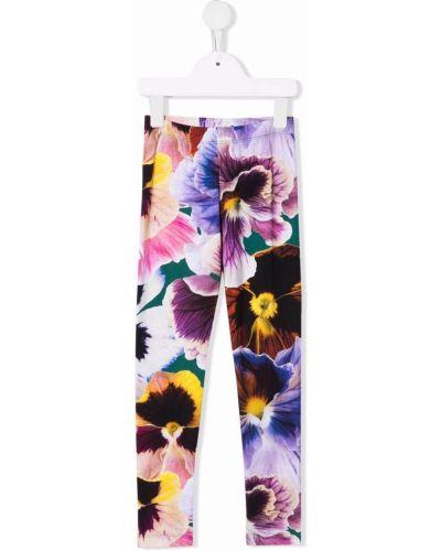 Fioletowe spodnie z printem Molo