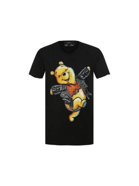 Хлопковая черная футболка с заклепками Dom Rebel