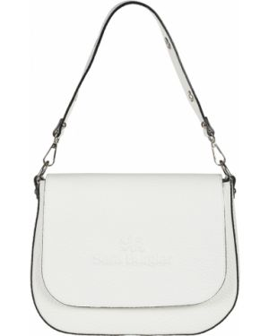 Кожаная сумка - белая Sara Burglar