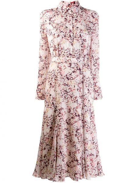 Платье с поясом на пуговицах с цветочным принтом Equipment