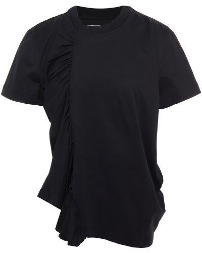 Czarny t-shirt bawełniany Marques Almeida