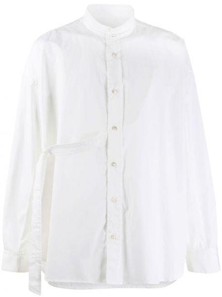 Biała koszula bawełniana z długimi rękawami Damir Doma