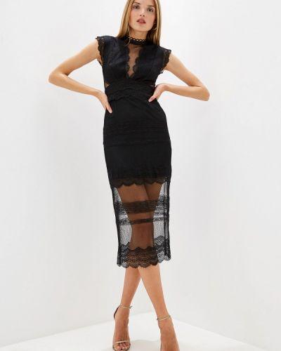 Вечернее платье осеннее черное Three Floor