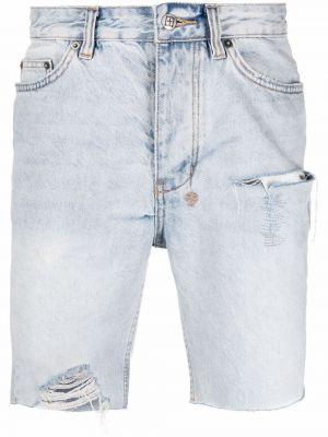 Синие хлопковые джинсовые шорты Ksubi