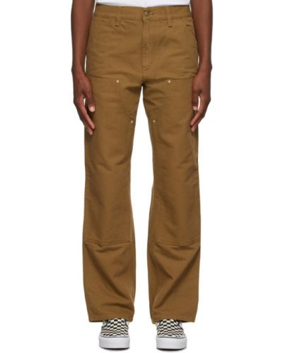 Niebieski jeansy z kieszeniami w połowie kolana z łatami Carhartt Work In Progress