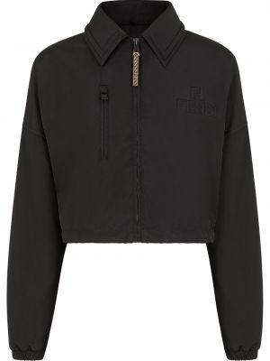 Длинная куртка - черная Fendi