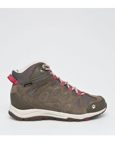 Кожаные ботинки теплые короткие Jack Wolfskin